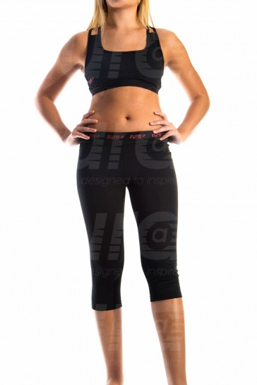 Enhancement Sports Bra - Black (with Red logo)