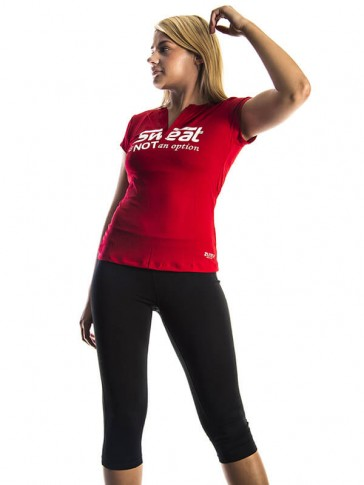 Sweat Is Not An Option Top - Red