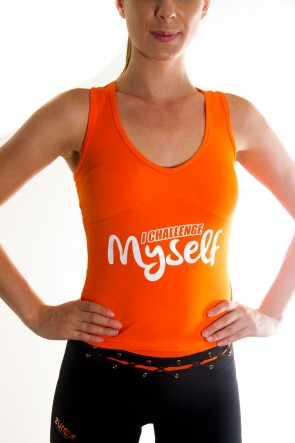 I Challenge Myself Tank Top - Orange