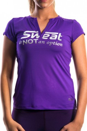 Sweat Is Not An Option Top - Purple