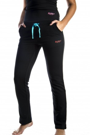 Plush Pants - Black (with Red logo)