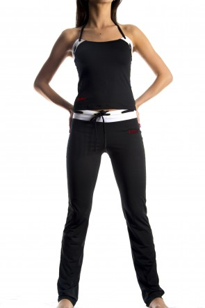 Yoga Pants - White (Red zura logo)