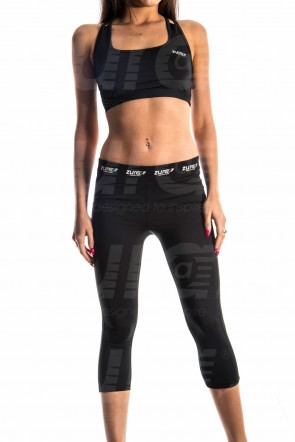 Enhancement Sports Bra - Black (with White logo)