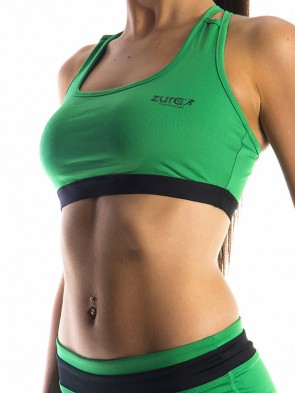 Essential Sports Bra - Green