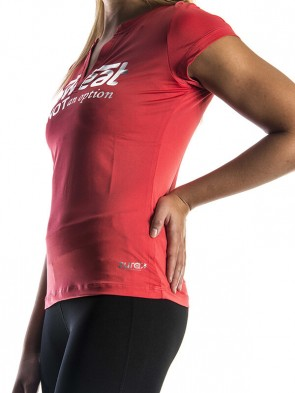 Sweat Is Not An Option Top - Light Red