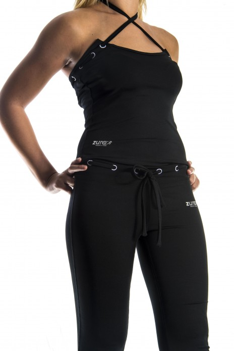 Yoga Cross Top - Black