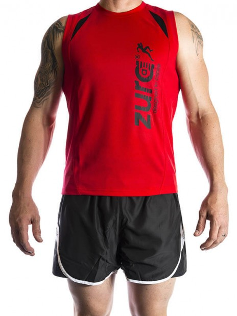 Power Sleeveless Tshirt - Red