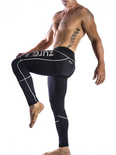 Ultimate Compressed Tights - White (black with white logo)