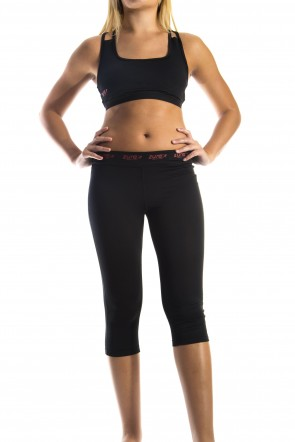 Enhancement 3/4 Tights - Black (with Red logo)